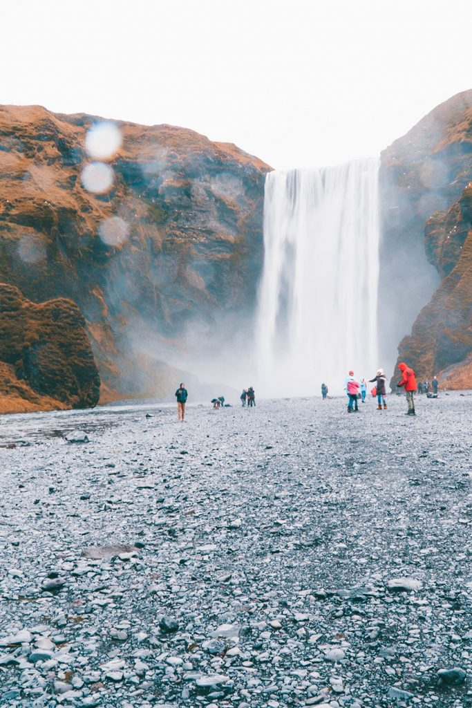 a waterfall on Iceland's south coast