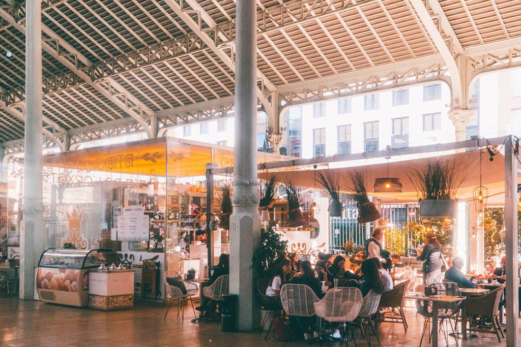 A horchateria in the Mercado de Colon