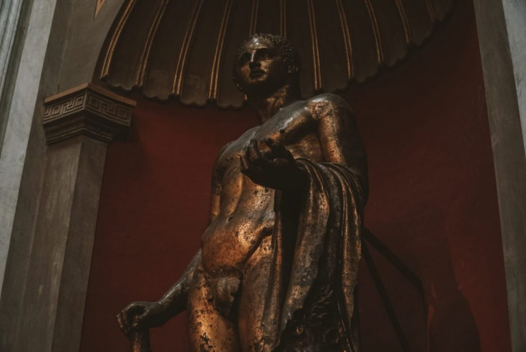 A statue of Hercules in the Vatican museums