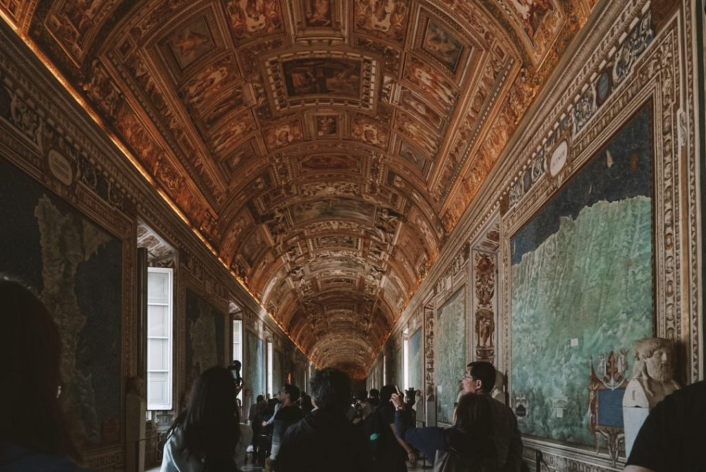 The map room in the Vatican Museums