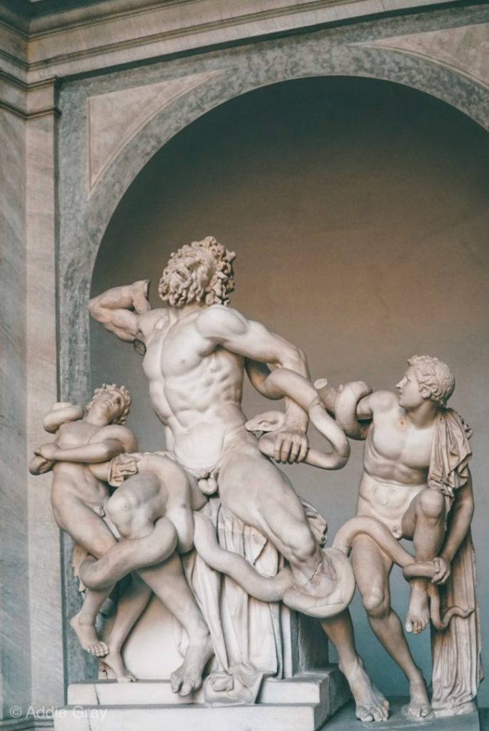 A statue in the Vatican Museums