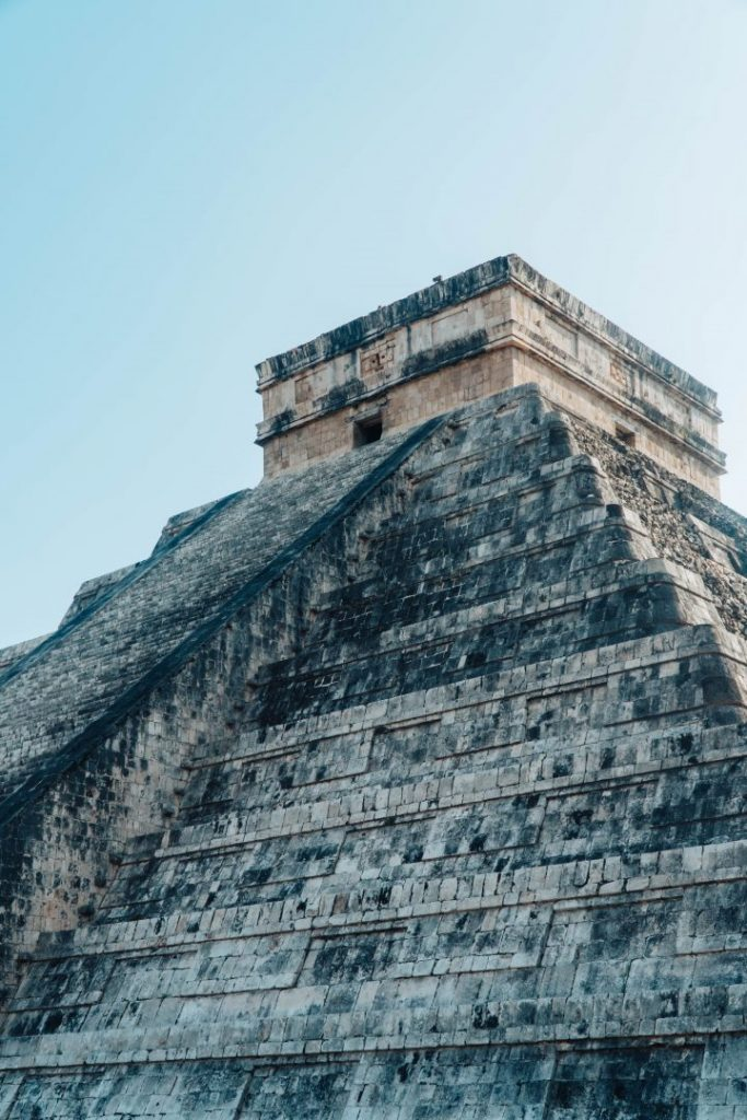 A low-angle shot of Chichen Itza makes it seem more imposing - photography composition tips