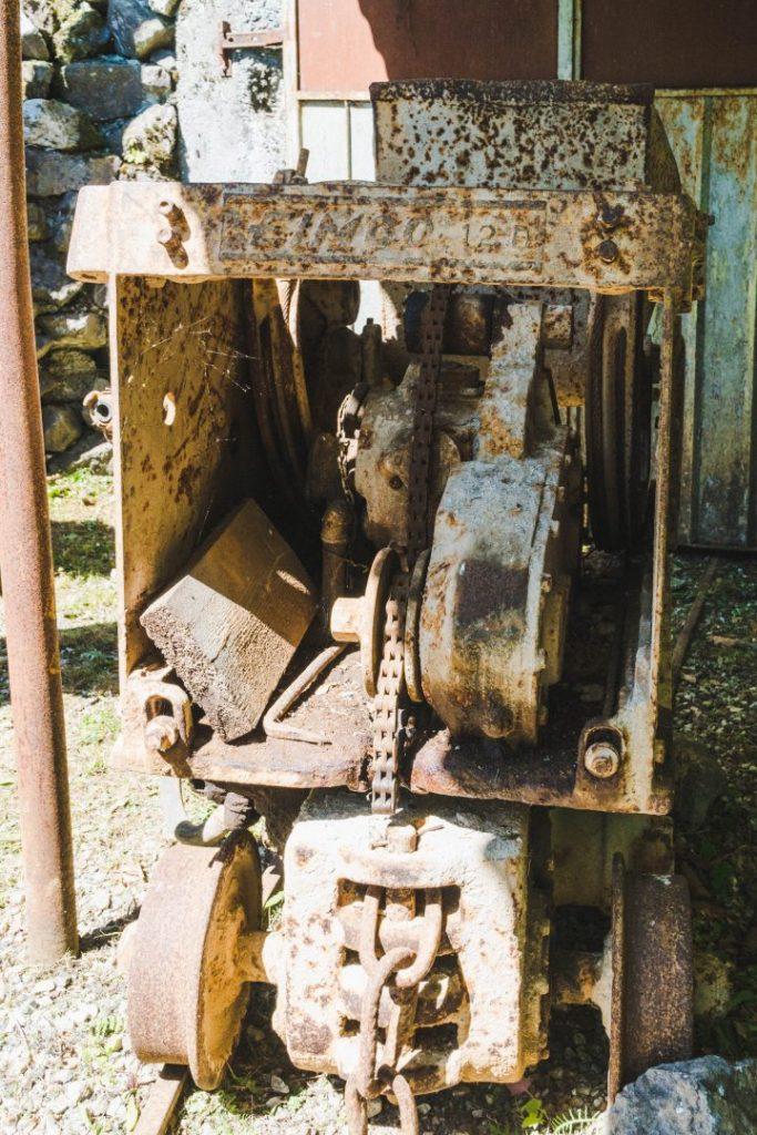 Mining equipment at the Miniere Darzo