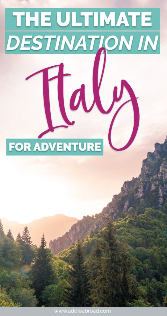 If you're into adventure travel, then you need to check out Valle di Ledro in Trentino, Northern Italy. Off-the-beaten-path and full of hiking, mountain biking, and canyoning opportunities, it's the perfect adventure travel destination in Italy. Check out this post for all of the best Northern Italy travel inspiration and advice! #italy #northernitaly #trentino #travel #travelinspiration§