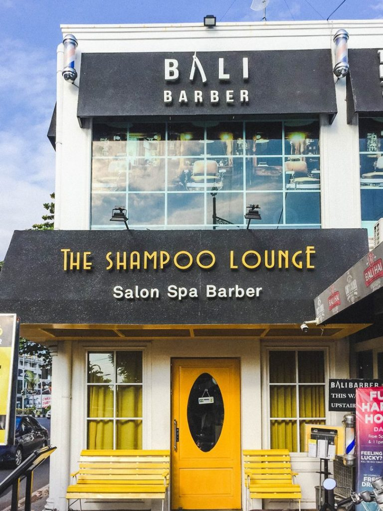 The outside of The Shampoo Lounge in Seminyak