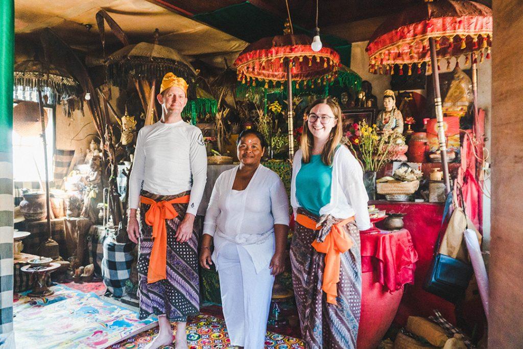 Addie, Kenneth, and the female Hindu Priest