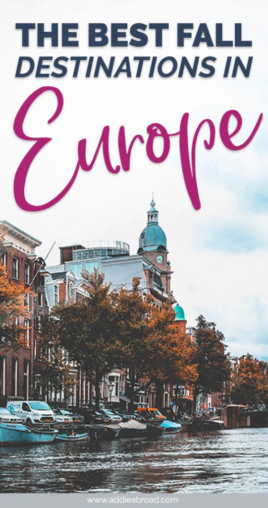 Going to Europe this fall? Find all the best spots to add to your Europe itinerary with this ultimate bucket list of Europe destinations and places to visit in Europe in fall/autumn! #travel #europe #travelinspiration