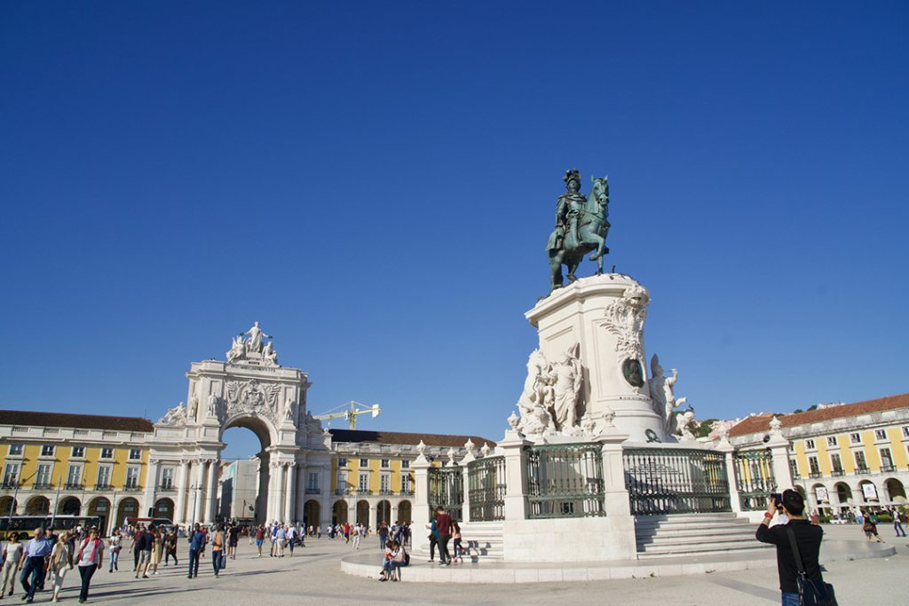 The main square of Lisbon, Portugal