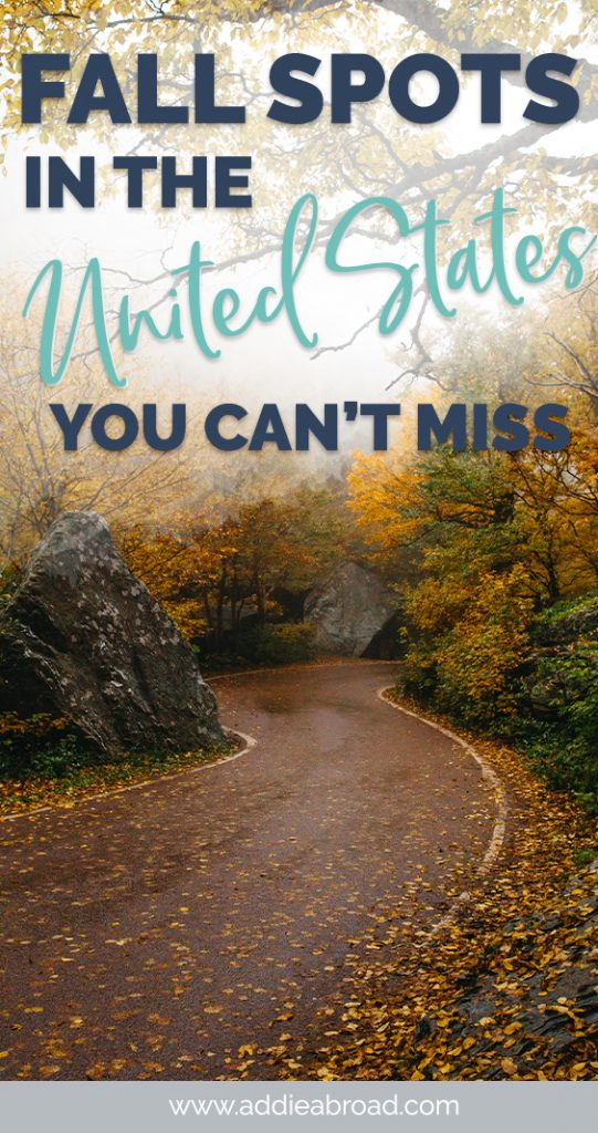 Looking for a great fall getaway in the United States? This fall travel guide will tell you all of the best places in the USA to visit for your fall vacation. Learn all about USA travel, fall travel, the best fall vacations in the US! #usa #unitedstates #travel #fall #autumn