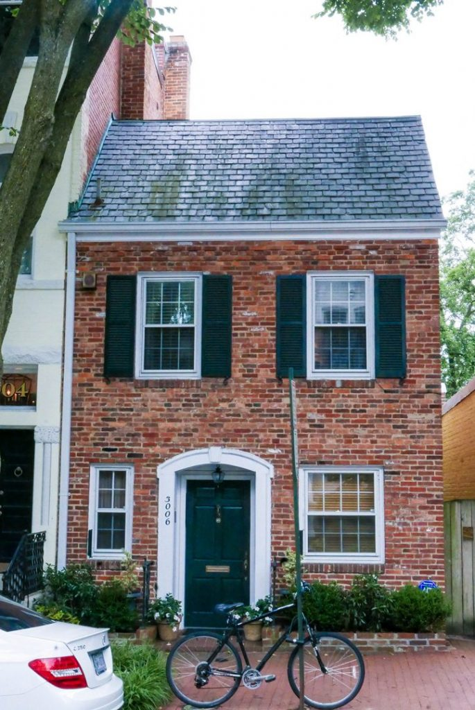 A brick house in Georgetown, Washington DC.