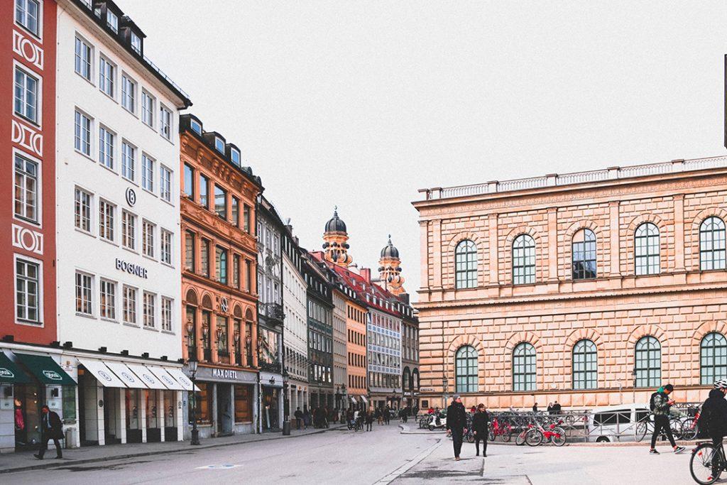 A square in Munich, Germany