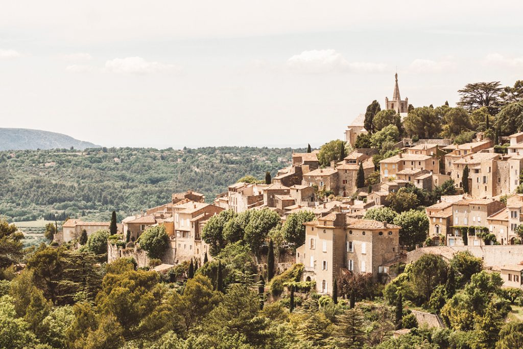 An ancient hillside town in Provence, France