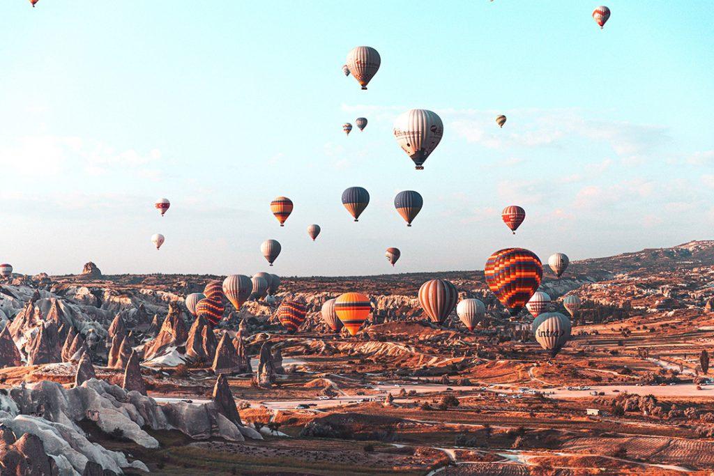 Hot air balloons in Cappadoccia