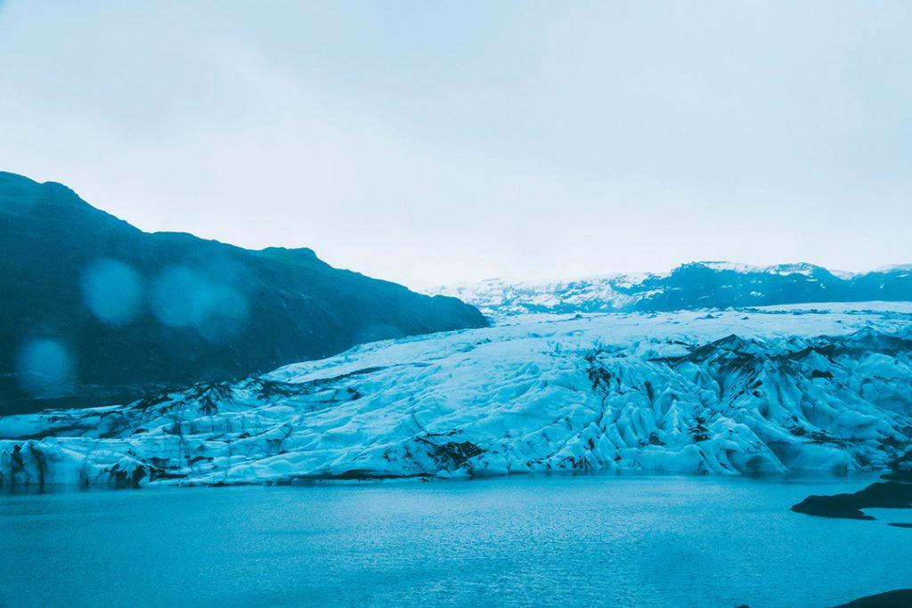the melting Sólheimajökull glacier