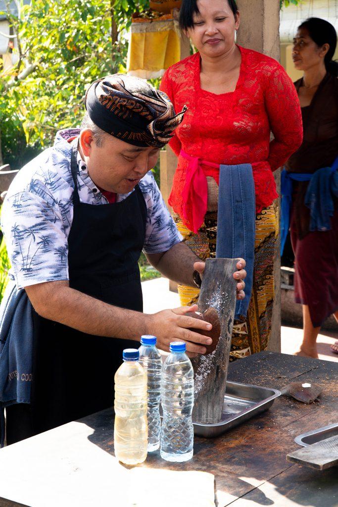 Coconut oil demonstration