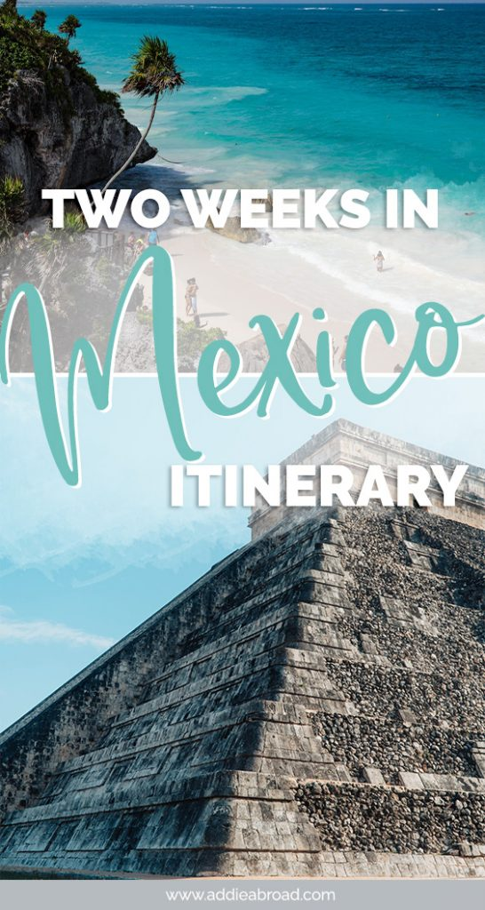 Whether you want to chill out on the beach or explore Mayan ruins, this 2 week Mexico itinerary has something for everyone! Have the perfect vacation by visiting Chichen Itza, Cozumel, Tulum, and Bacalar. #mexico #travel #travelinspiration