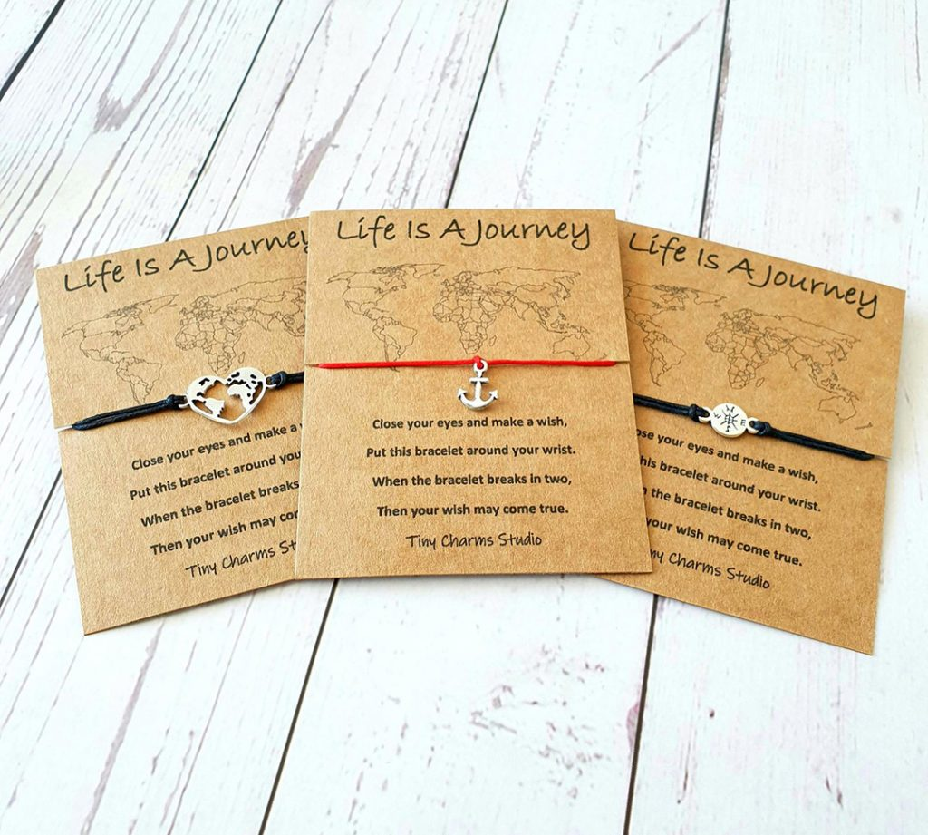 travel wish bracelets - one of the best travel gifts for her!