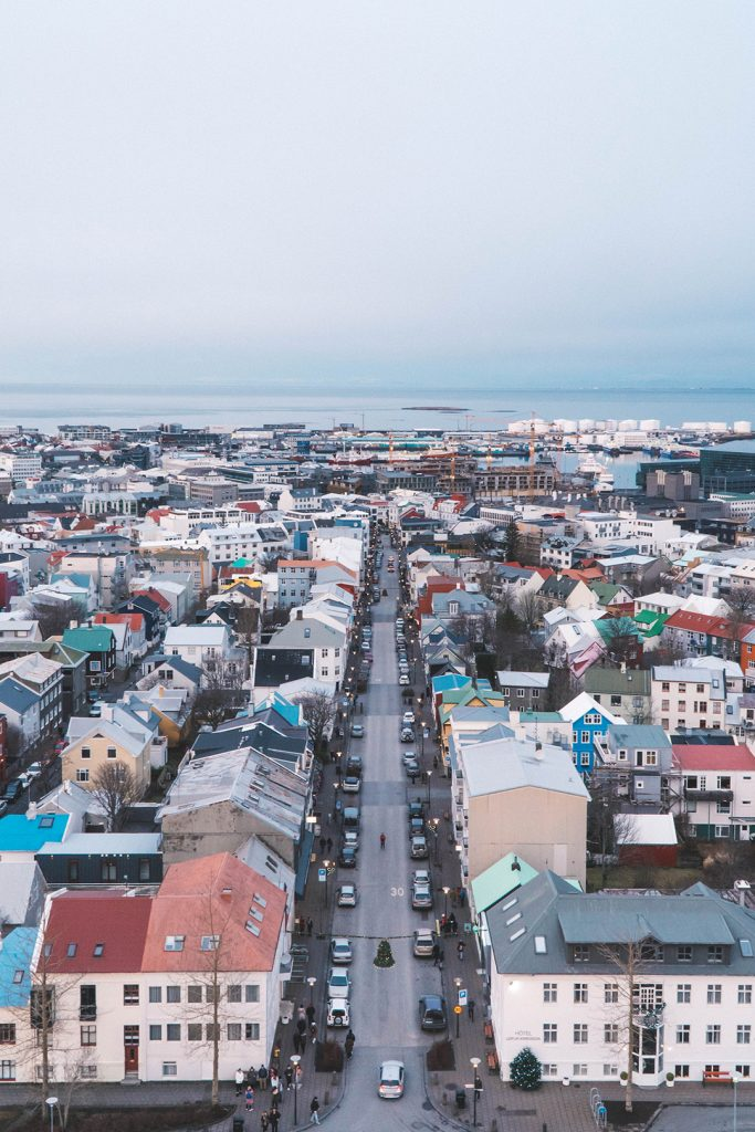 colorful houses of Reykjavik from Hallgrimskirkja