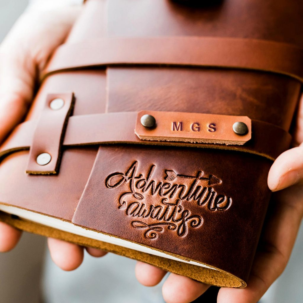 Leather travel journal. Journals make great travel gifts for her!