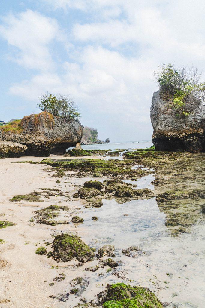 The private beach at Dreamsea Uluwatu