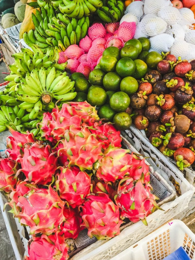 Fruit in a local market in Bali on our Bali food tour