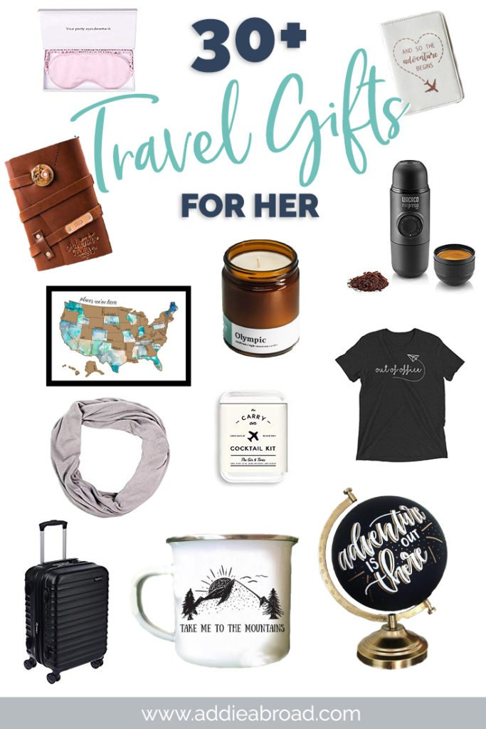 Looking for the best travel gifts for her? You've come to the right place. Check out this travel gift guide for unique travel gifts for women, including airplane-themed jewelry, handmade travel gifts, personalized travel gifts, tickets, travel gift boxes, and more! Click through to read. #travel #christmas #travelgifts #travelgiftguide #travelgiftsforher