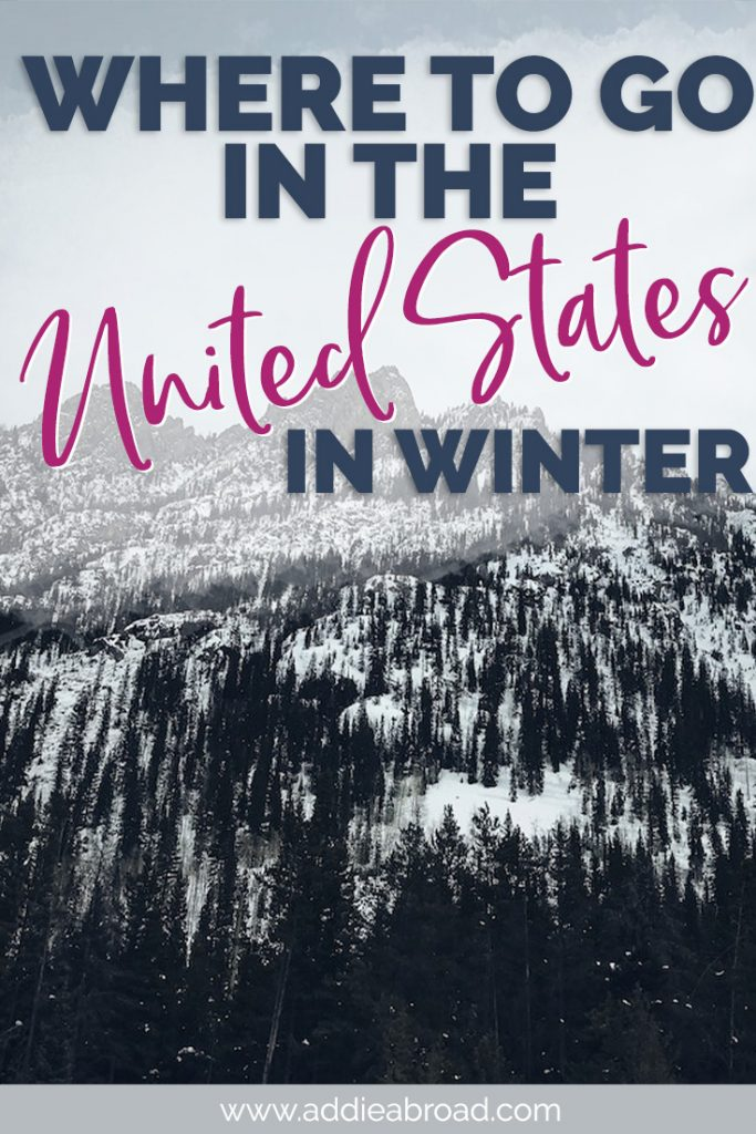 Want to know where to go in the United States in Winter? These 16 United States travel destination only get better in the cold! Click through to find out what they are. #usa #unitedstates #travel #winter | beautiful places to visit in winter in USA