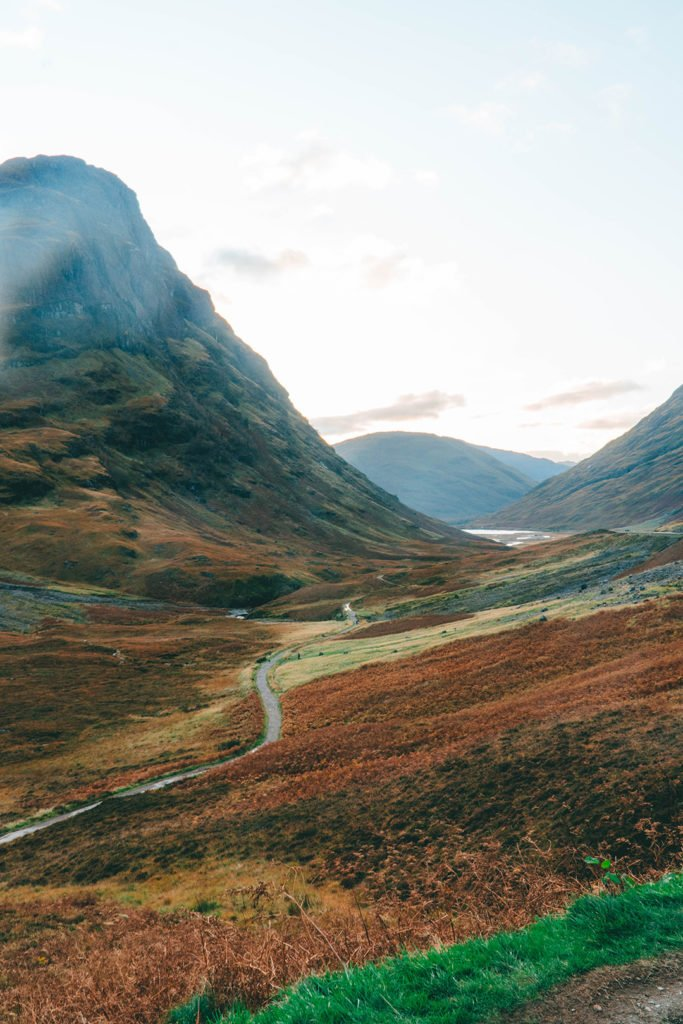 the rolling hills of Glencoe