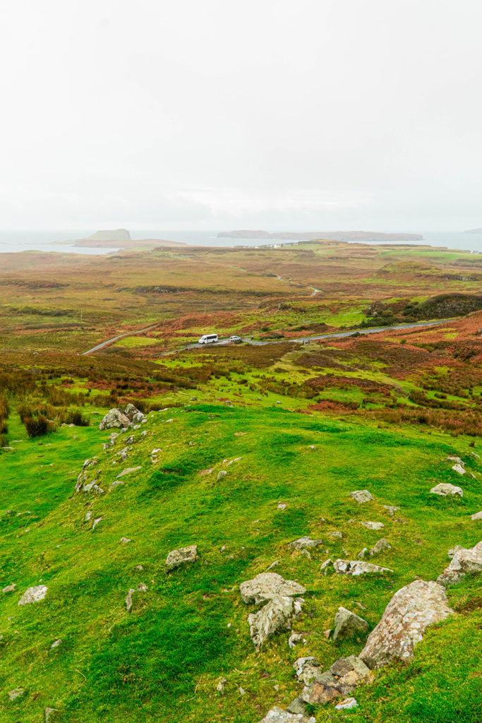overlooking the isle of skye from dun beag broch