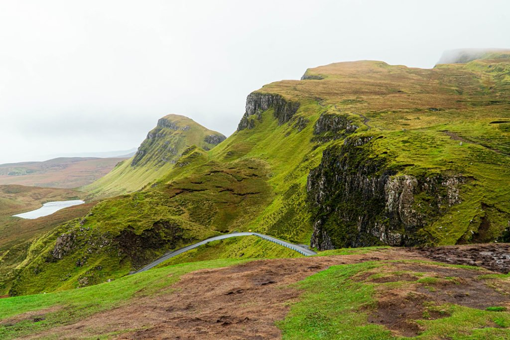 the rolling hills of the quiraing on the isle of skye
