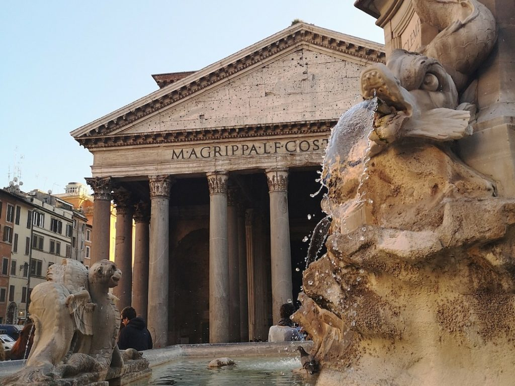 The Pantheon in Rome, one of the best places to visit in Europe in winter