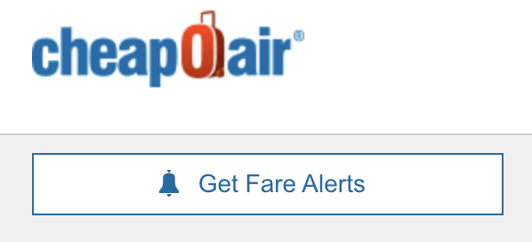 get fare alerts button on cheapoair
