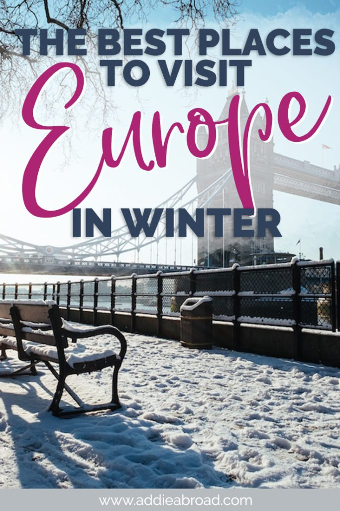 Winter in Europe is an absolutely magical time of year! Here are the best places to visit in Europe in winter, including both winter sun destinations and Christmas markets! You HAVE to add these spots to your Europe itinerary! #europe #christmas #winter #travel