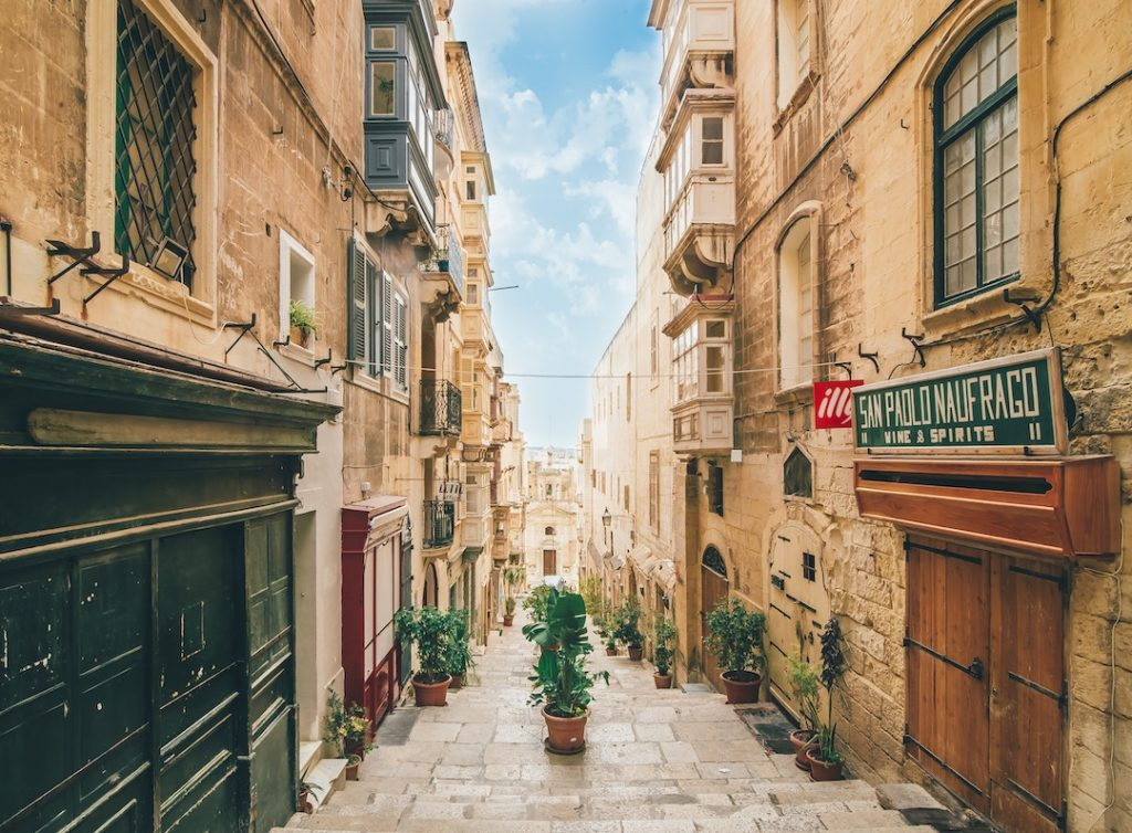 an ancient street in Malta
