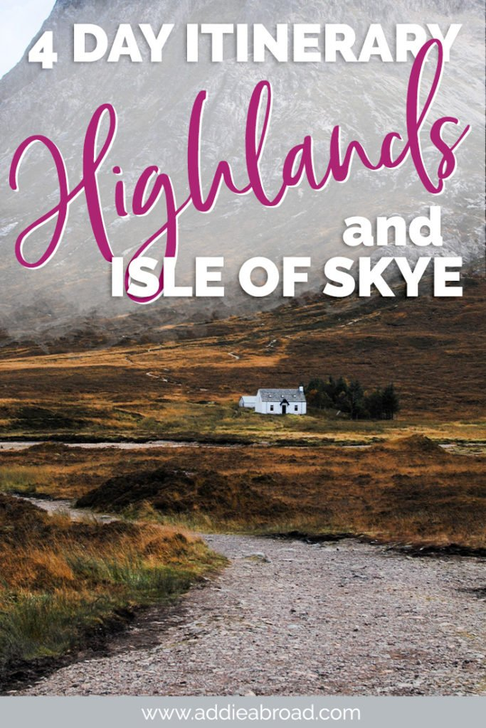Visiting Scotland? This 4 day Scottish Highlands and Isle of Skye itinerary will take you to all of the best things to do-both well-known and off-the-beaten-path! #scotland #travel #isleofskye