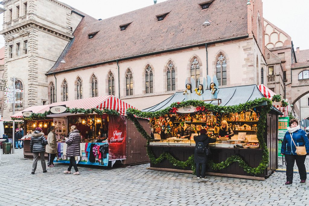 stalls at the market of the sister cities in Nuremberg
