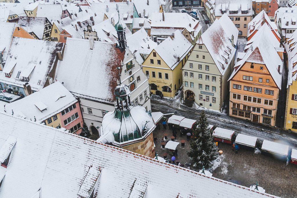 a birds-eye view of Rothenburg ob der Tauber