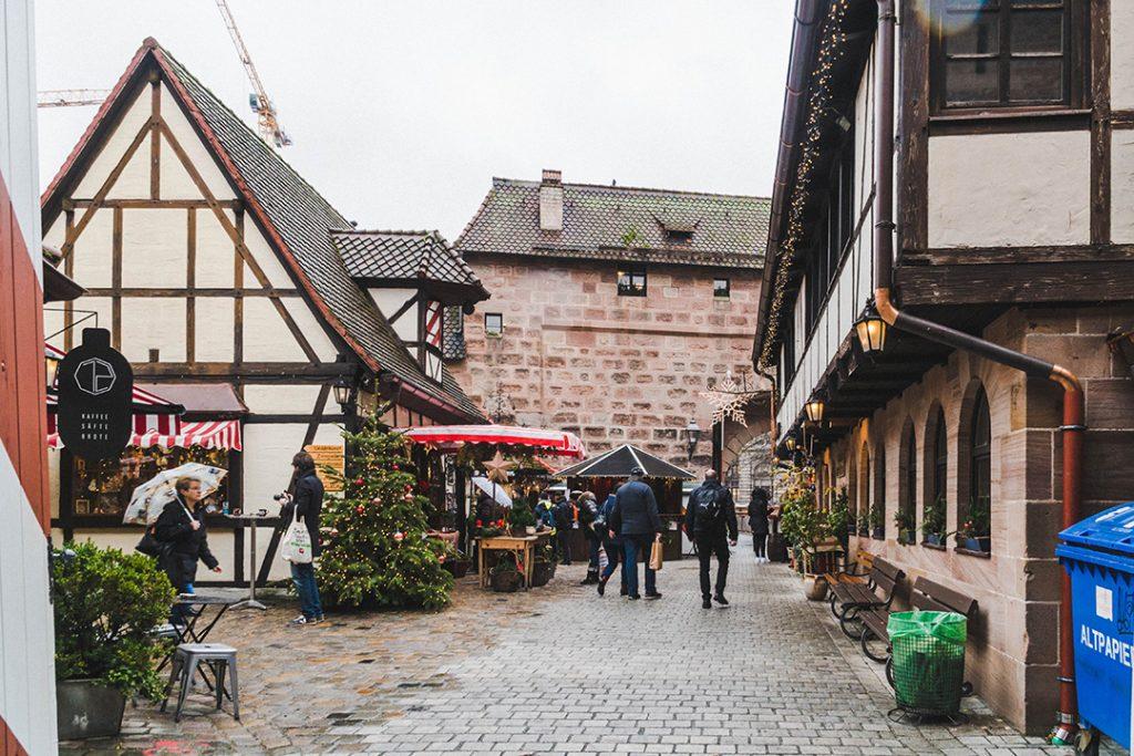 half-timbered houses in the handwerkerhof nürnberg