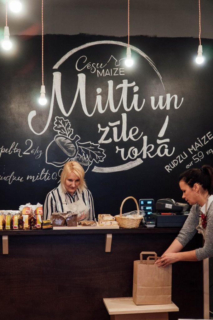 two women behind the counter at cesu maize bakery