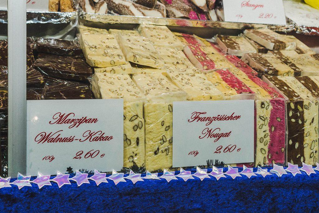 marzipan display at the nuremberg christmas market