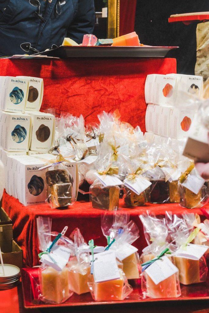 handmade soap at the nuremberg christmas market