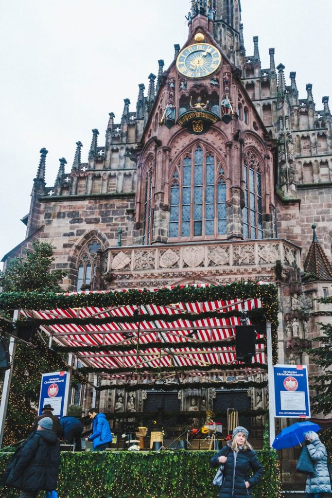 A stage set up in front of the Frauenkirche