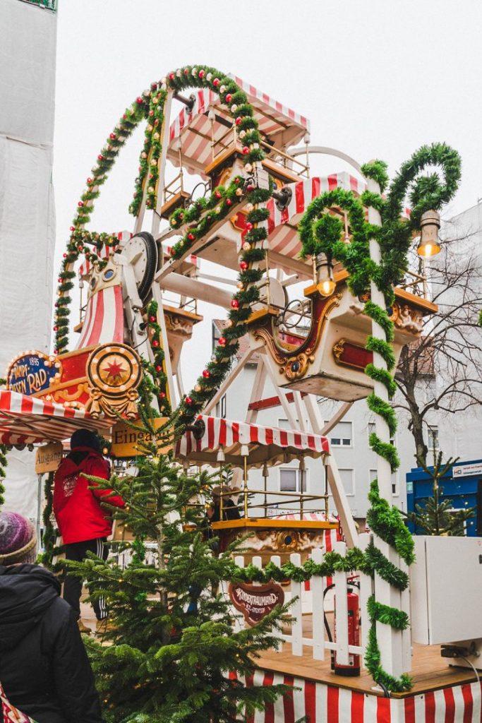 a christmas ferris wheel at the nurmberg children's christmas market