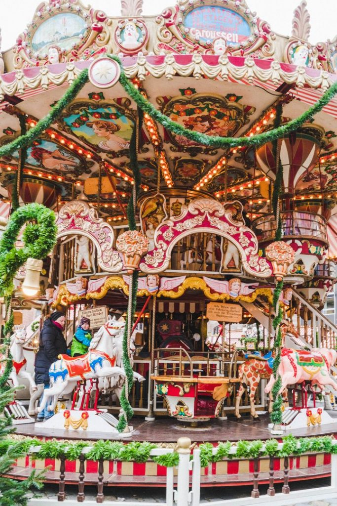a christmas merry-go-round at the nurmberg children's christmas market