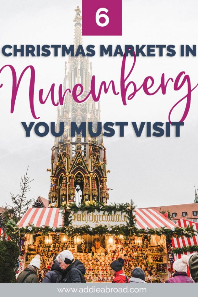 Going to travel to Nuremberg this winter? Here are the 6 Nuremberg Christmas Markets you need to visit, incudling the Nuremberg Christkindlmarkt, the Nuremberg Children's Christmas Market, and the Feuerzangenbowle! #christmas #christmasmarket #nuremberg #germany