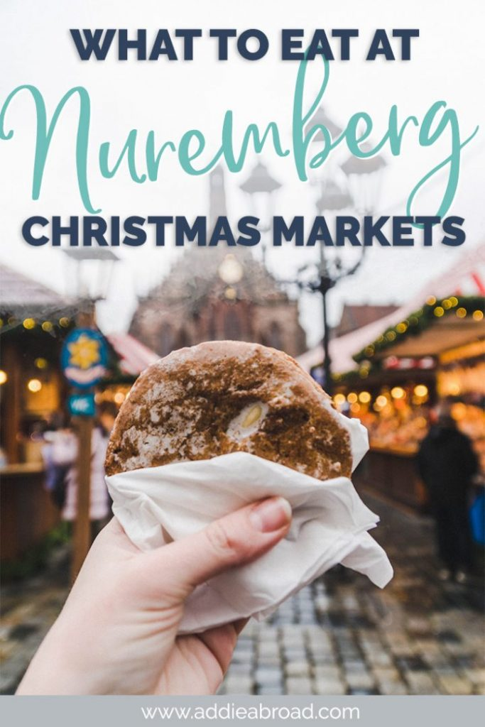 Glühwein and Feuerzangenbowle and Lebkuchen, oh my! If you're looking for the best food at the Nuremberg Christmas Market, then you've come to the right place. This is the ultimate guide to what to eat at the Nuremberg Christkindlmarkt in Germany.  #christmas #christmasmarket #nuremberg #germany