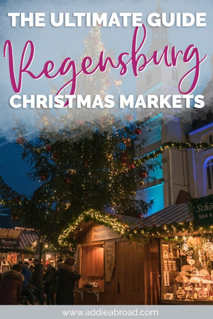 If you're looking for authentic Christmas markets in Germany, then look no further than Regensburg. The Regensburg Christmas markets are the best! Click through to read a complete guide on visiting Regensburg's Christmas markets, including the best markets, opening times, what to eat, and what to buy. #germany #christmas #christmasmarkets