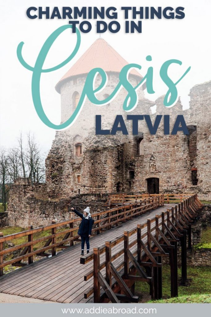 Looking for a great Riga day trip or a charming small town in Latvia? Consider Cesis! From the amazing Cesis Castle to the ultimate Latvian sauna experience, to all of the delicious food, to so much Latvian culture, there are so many charming things to do in Cesis, Latvia. It's the best Latvia travel experience out there! #latvia #europe #travel