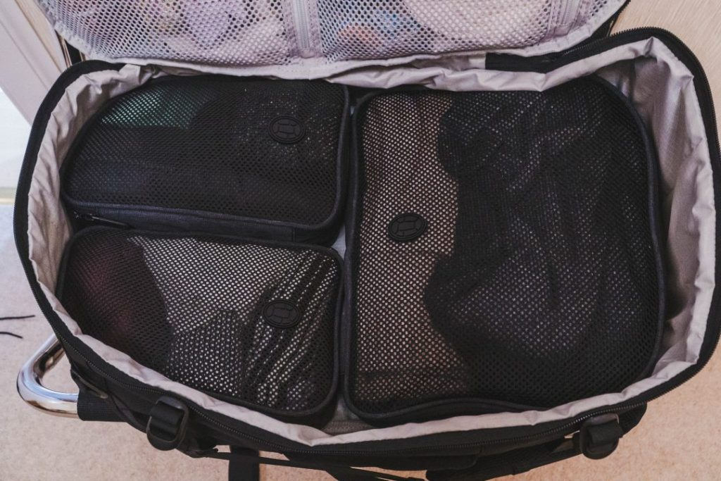 the inside of the tortuga setout backpack