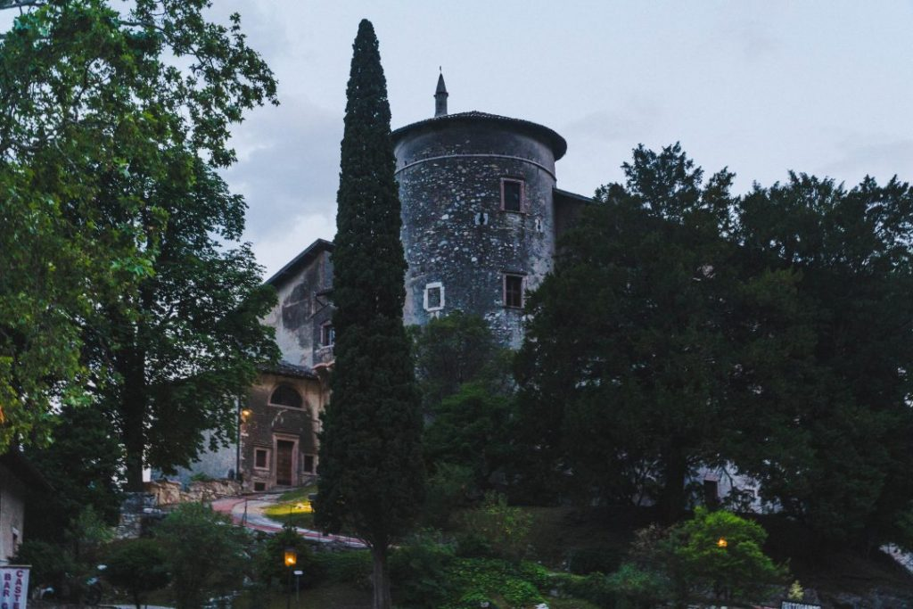 Toblino Castle at blue hour